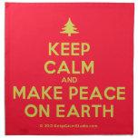 [Xmas tree] keep calm and make peace on earth  Napkins