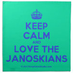 [Crown] keep calm and love the janoskians  Napkins