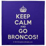 [Crown] keep calm and go broncos!  Napkins
