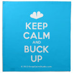 [Two hearts] keep calm and buck up  Napkins