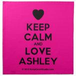 [Love heart] keep calm and love ashley  Napkins