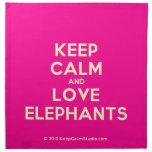 keep calm and love elephants  Napkins