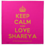 [Crown] keep calm and love shareya  Napkins