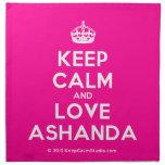 [Crown] keep calm and love ashanda  Napkins