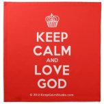 [Cupcake] keep calm and love god  Napkins