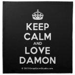[Crown] keep calm and love damon  Napkins