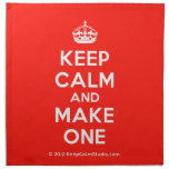 [Crown] keep calm and make one  Napkins