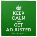 [Crown] keep calm and get adjusted  Napkins