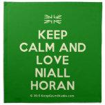 [UK Flag] keep calm and love niall horan  Napkins