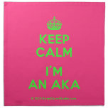 [Crown] keep calm i'm an aka  Napkins