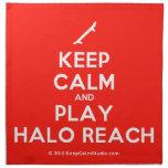 [Skateboard] keep calm and play halo reach  Napkins