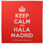 [Crown] keep calm and hala madrid  Napkins