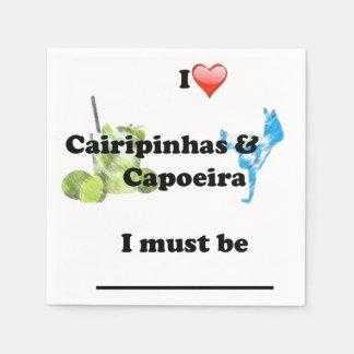 napkins capoeira martial arts paper napkin