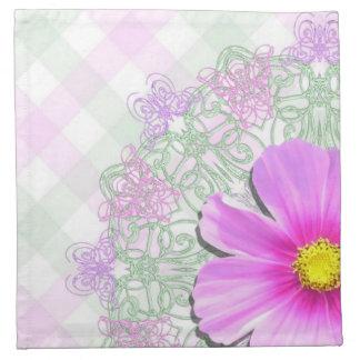 Napkins - Cloth - Bi-Color Cosmos on Lace
