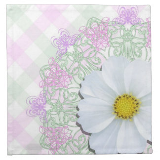 Napkins - Cloth - White Cosmos on Lace