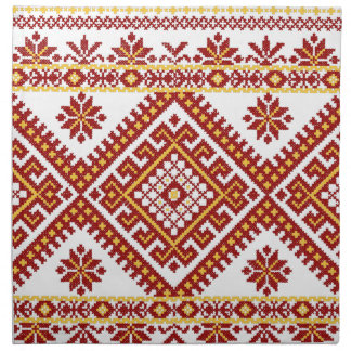 Napkins Cotton Ukrainian Embroidery Print