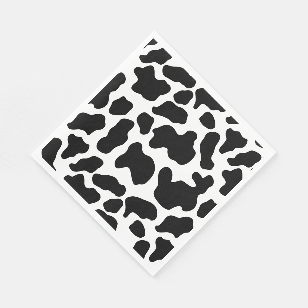 Napkins - Cow Pattern