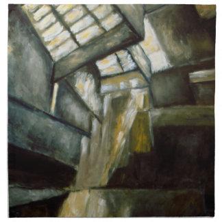 "Napkins - Oil Painting ""Museum Interior"""