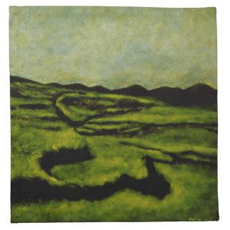 "Napkins - Oil Painting ""Rape Fields"""