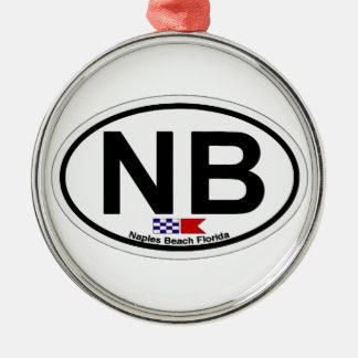 Naples Beach. Metal Ornament