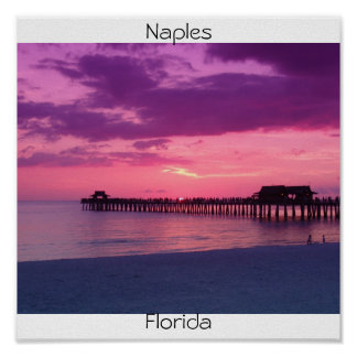 Naples Beach Play Poster