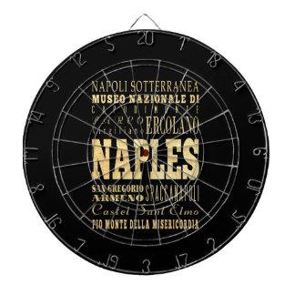 Naples City of Italy Typography Art Dartboard