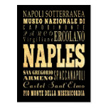Naples City of Italy Typography Art Postcards