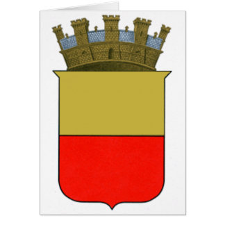 Naples Coat of Arms Card