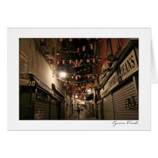 Naples Flag Alley Card