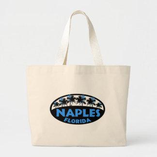 Naples Florida black blue palms Bags
