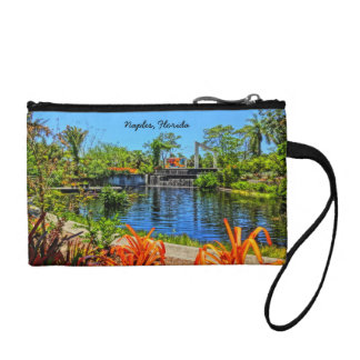 Naples Florida Botanical Garden - Mosaic Wall Change Purse
