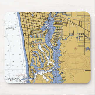 Naples, Florida Nautical Harbor Chart Mousepad