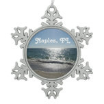 Naples, Florida Snowflake Pewter Christmas Ornament