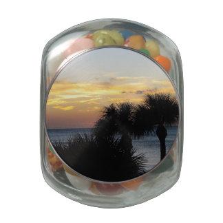 Naples Florida Sunset Glass Candy Jar