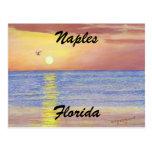 naples, florida, sunset, postcard, fineart,