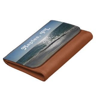 Naples, Florida Leather Wallet For Women