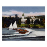 Naples Maine Boating on Long Lake Print