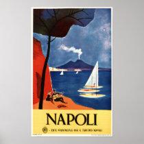 Naples NAPOLI ITALY Ad Vintage Italian Travel