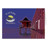 Naples Pier In Blues Greeting Card