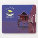 Naples Pier In Blues Mouse Pad