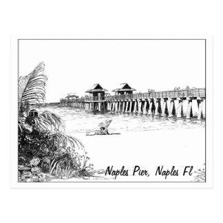 Naples Pier, Naples Fl Postcard