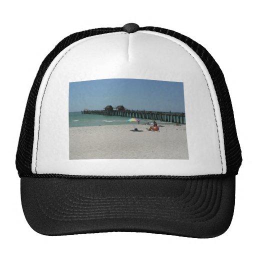 Naples Pier, Naples Florida Trucker Hats
