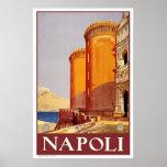 """Naples"" Vintage Travel Poster"
