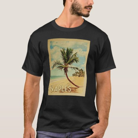Naples Vintage Travel T-shirt - Beach