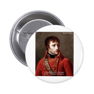 "Napoleon ""1000 Words"" Tees, Mugs, Cards, Gifts Etc Pinback Button"