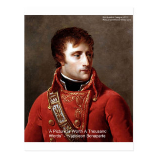 "Napoleon ""1000 Words"" Tees, Mugs, Cards, Gifts Etc Postcard"