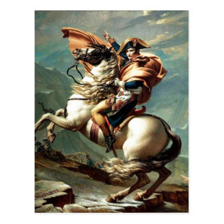 Napoleon 1801 que cruza las montañas, Jacques-Loui Tarjeta Postal