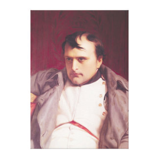 Napoleon  after his Abdication Canvas Print