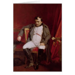 Napoleon  after his Abdication Greeting Card