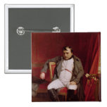 Napoleon  after his Abdication Pinback Button